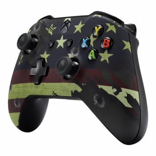 Xbox One Soft Touch Design Custom Gaming Controller -Soft Shell for Comfort Grip X for Microsoft Xbox 1 (Flag)