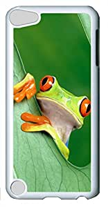 iPod Touch 5 Cases & Covers - Frog 2 Custom PC Soft Case Cover Protector for iPod Touch 5 - White