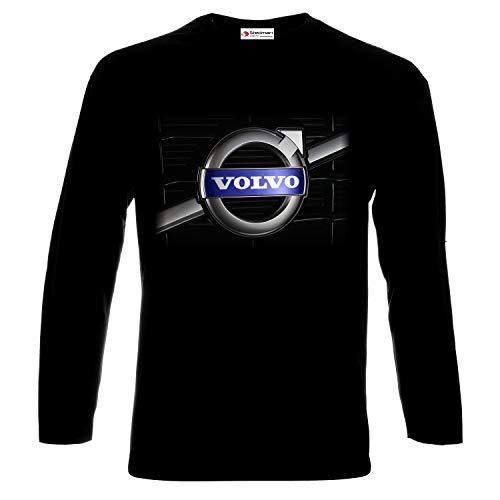 Volvo Logo Lkw shirt Uomo Stedman T Printed Truck Auto Lunga Cars Manica Black erdBoCxW