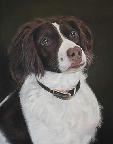 - CASSIE - 11 x 14 inch Pastel Art Print Brittany Dog Wall Art Decor