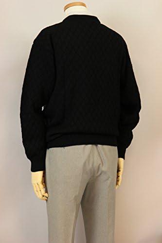 【Aspetiva】【M/L/LL】ウール100% 7ゲージ クルーネックセーター 紳士/日本製