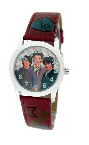 Disney #41448B Jonas Brothers Leather Strap Watch (Rock Brothers Jonas)