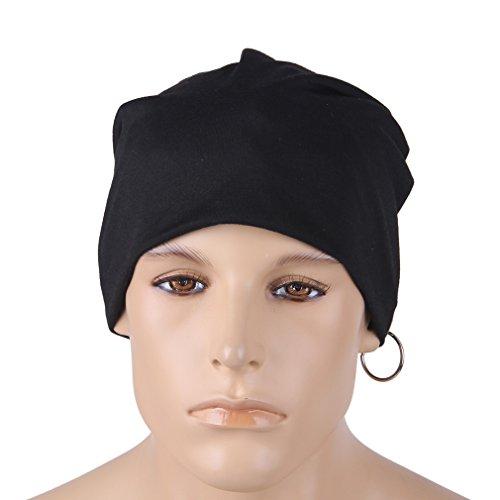 Slouchy sueño de Negro tejida cráneo de gorrita Hombres Rayas COMVIP holgado punto 30 la wY6XRxqf