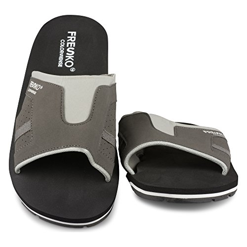 Scarpe Fresko Scivolano Su Sandalo Per Uomo - Slip-on Water, Swim E Beach Shoe Grey