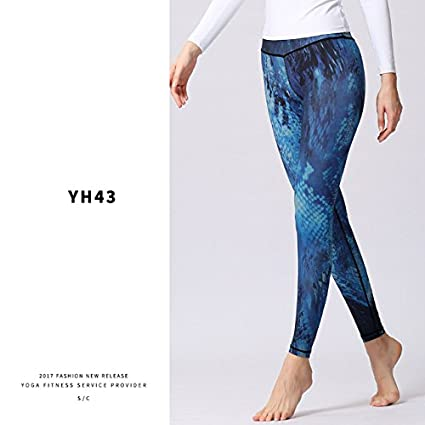 75c31b38662 Women Yoga Pants Printed Sport Leggings Stretched Fitness Yoga Pants  Workout Running Tight Leggins Sport Women Fitness Trousers  Amazon.in   Garden   ...