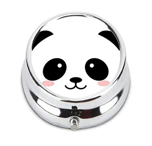 Smiling Cartoon Panda Personalized Durable Stainless Steel Pill Box Jewelry - Panda Steel