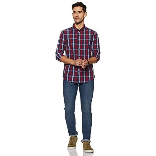 41v2OZQRUpL. SS500  - Amazon Brand - Symbol Men's Checkered Regular Fit Casual Shirt