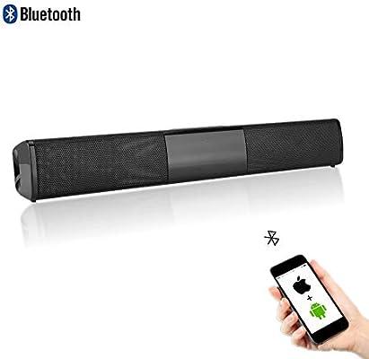 Garsent Barra de sonido inalámbrica Bluetooth Soundbar altavoz Home Theatre estéreo Surround altavoz soporte U Disk, 4 horas de tiempo de reproducción para TV, PC.: Amazon.es: Electrónica