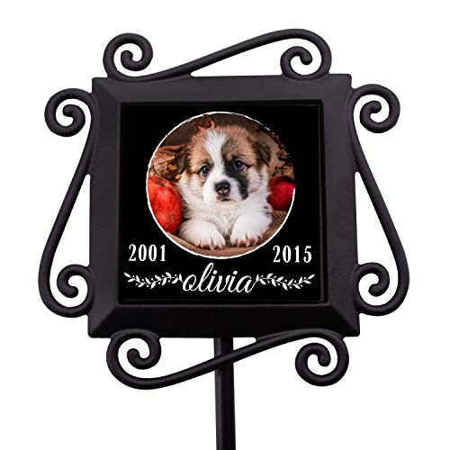 (Personalized Memorial Gifts Garden Stakes - Pet Memorial Gifts in Loving Memory of Custom Name & Photo- D5)