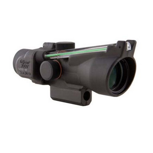 Trijicon TA50-C-400145 ACOG 3x24mm XB Compact Dual Illuminated Crossbowx 40mm, Green Chevron 400-440+ FPS Bolt Drop Reticle with M16 Carry Handle Base, black (M16 Base)