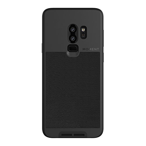Galaxy S9+ Case || Moment Photo Case in Black Canvas - Thin, Protective, Wrist Strap Friendly case for Camera Lovers.