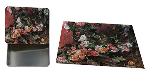 Roses #3 (Lovis Corinth) Metal Tin Trinket Box (4