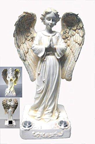 Angel Light Praying - Praying Angel with 2 Yellow LED Solar Light