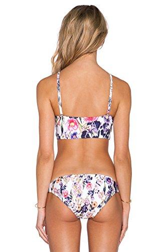 2017 Sra Impresión Del Traje De Baño Atractivo De Dos Piezas Del Bikini Purple
