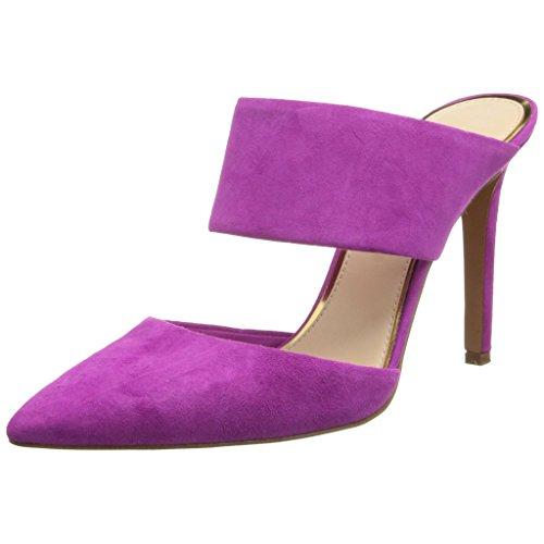 EKS - Zapatos de tacón fino Mujer Morado - Lila-Wildleder