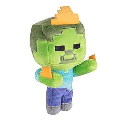 "JINX Minecraft Happy Explorer Zombie On Fire Plush Stuffed Toy (Multi-Color, 7"" Tall)"
