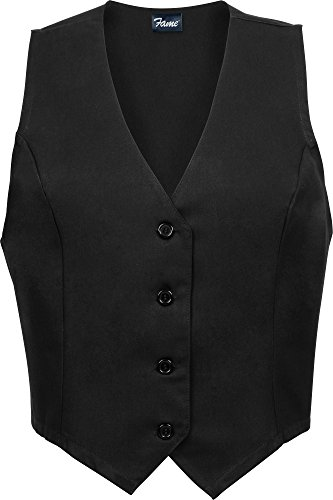 (Fame Women's Tailored Vest - Female-Black-XL)