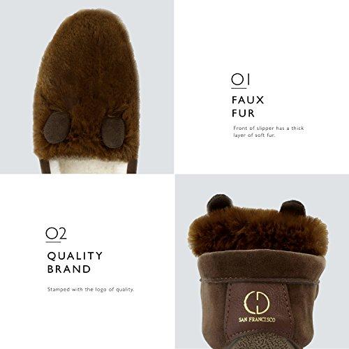 Dailyshoes Mocassino Da Donna Flat Casual Driving Mocassini Pantofole Classiche Slip-on Sandalo Scarpe, Cioccolato Sv, 11 B (m) Us