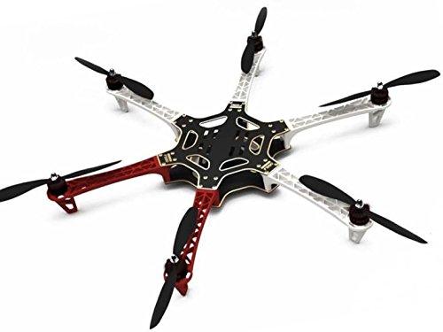 Hobbypower F550 ATF Hexacopter Frame Kit & X2212 980KV Brushless Motor & SimonK 30A ESC + 1045 Props