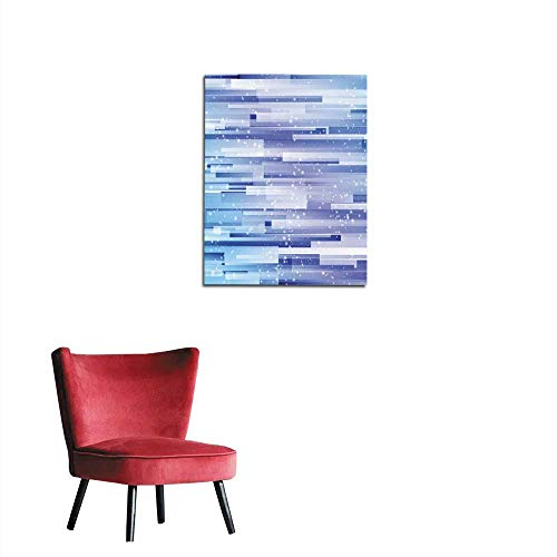 longbuyer Painting Post Abstract Blue Texture Background with Rectangle Mural 24