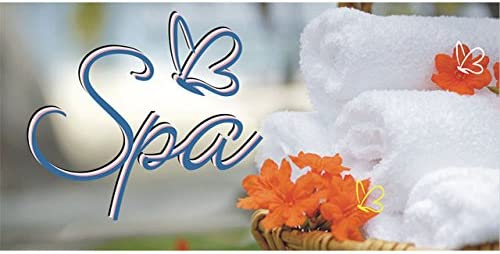 Amazon Com Bn0014 Open Spa Beauty Salon Massage Banner Sign Office Products