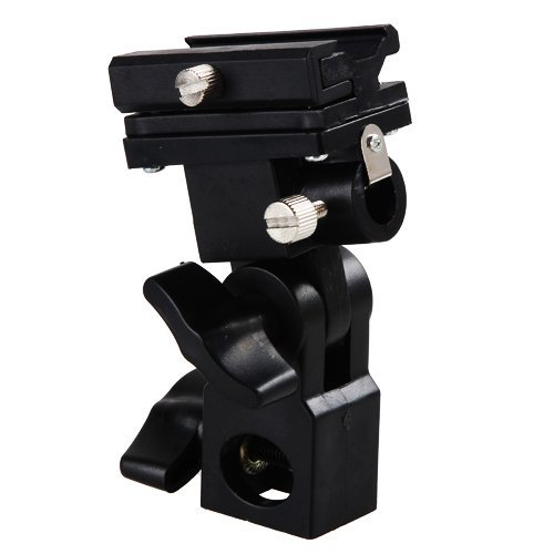 PhotoTrust Flash Bracket Swivel Bracket Umbrella Holder Studio Tilting Bracket for Flash, Speedlight, Nikon compatible with SB-500 , SB-600 , SB-700 , SB-800 , SB-900 , SB-910 , Canon Speedlite 90EX ,