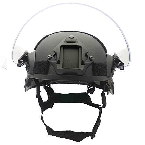 WLXW Casque Tactique de Paintball Airsoft, Casque de Combat Rapide de L'Armée MICH2000, avec Lunettes de Protection… 3