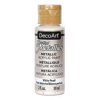 DecoArt Dazzling Metallics 2-Ounce White Pearl Acrylic Paint (DM-DA117)