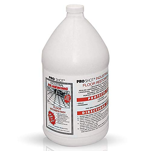 Pro Shot Industrial Re-Newing Floor Restorer And Finish - 1 Gallon - Petrochemical-Free Formula (Wax Floor Slip)