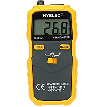 HYELEC PEAKMETER MS6501 LCD Display Termostato Digital Thermometer K Type Thermocouple Termometer