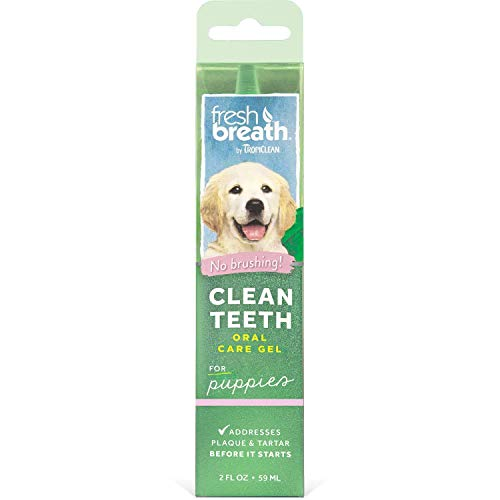 TropiClean Fresh Breath, Gentle Formula, Clean Teeth Gel for Puppies (2oz) Made in USA