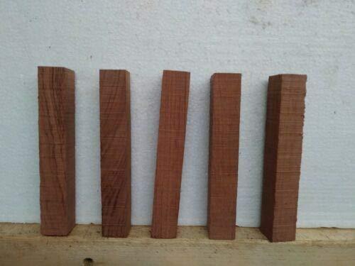 5 Pcs of BUBINGA PEN BLANKS WOOD TURNING SQUARE 3/4'' X 3/4'' X 5''
