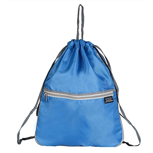 Drawstring Backpack Outside Inside Side Sackpack Training product image