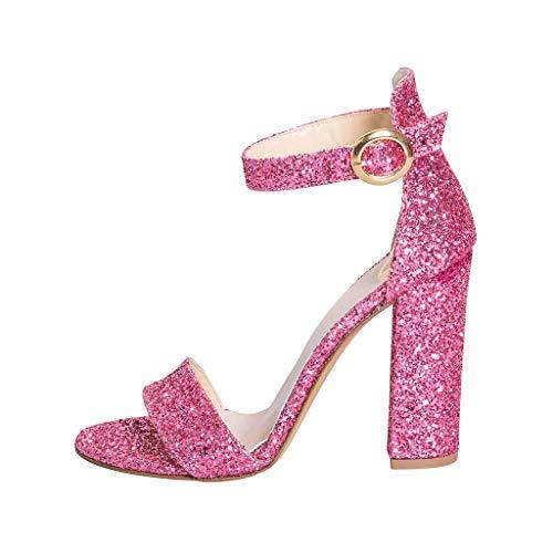 Estudio 10 Altas Talla Con Sandalias Purpurina Skf Cm Al 36 In Tacco Correa Creaciones 20 Made Zapatos Tobillo Italy Fucsia Alto Tamaño De Owqd4AHq