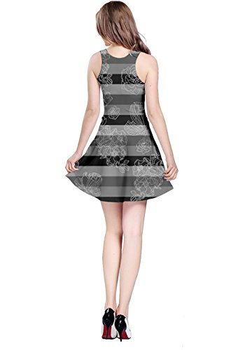 Seamless Blue Skater Dress CowCow Marine Stripes 2 Cute Doodle Gray Whales Womens wH1a7qY