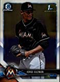 #6: 2018 Bowman Chrome Prospects #BCP180 Jorge Guzman NM-MT Marlins