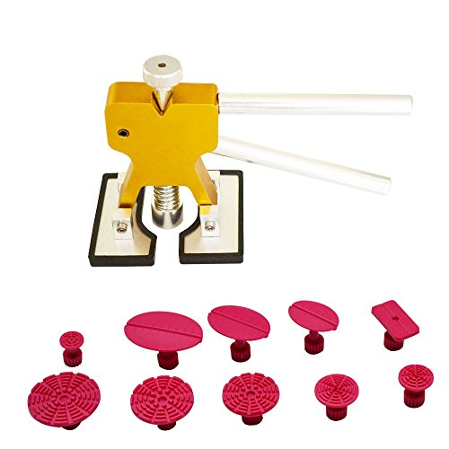 11 pc Dent Lifter with 9 tabs kit - Glue Puller - PDR Tools - Paintless Dent Repair Hail Removal