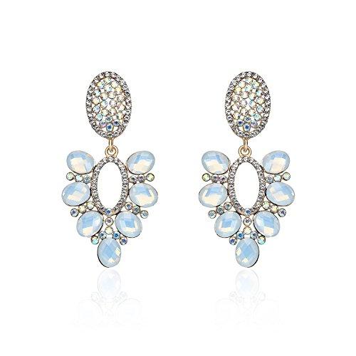 Lureme Trendy Colorful Crystal Chandelier Dangle Earrings Wedding Jewelry for Women (er005749)