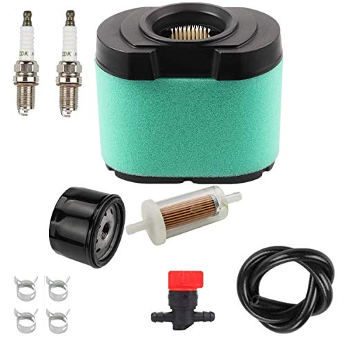 Euros 792105 Air Filter with 795890 Oil Filter 795890 Fuel Filter Tune Up Kit Fit for Briggs & Stratton 276890 696854 492932 4233 5405H 5405K 16-27 HP V-Twin Engines