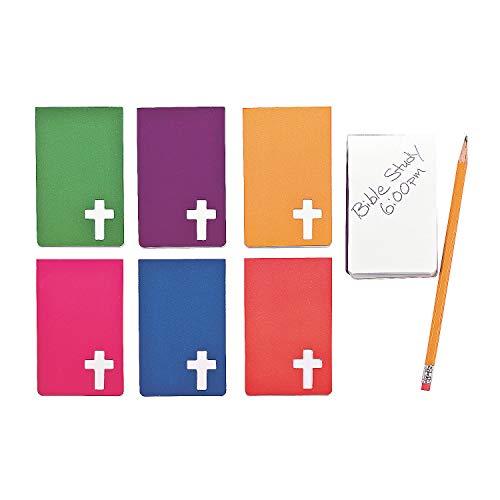 Fun Express Religious Notepads with A Cross (2 Dozen)