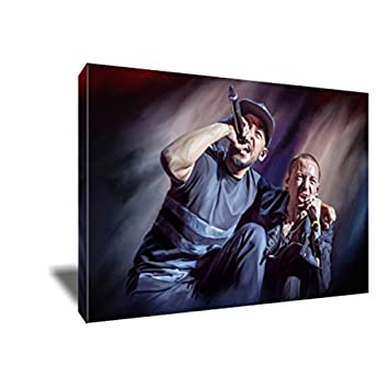 Linkin Park Chester Bennington Mike Shinoda Canvas Painting Poster Artwork on Canvas Art Print 8×12 inches