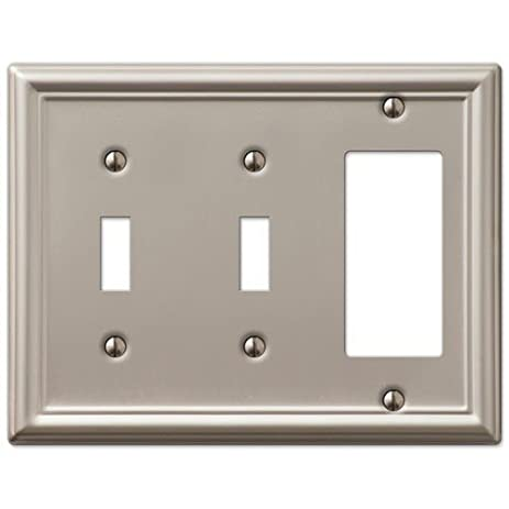 Decorative Wall Switch Outlet Cover Plates (Brushed Nickel, 2 ...