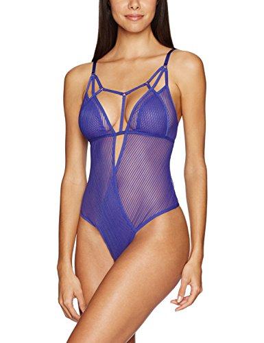 Jezebel Women's Niki Thong Back Bodysuit, Spectrum Blue, M