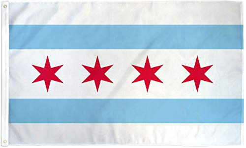 City Of Chicago Flag Illinois Banner Windy City Pennant 3x5 Indoor Outdoor New (Best Publishers For New Writers)