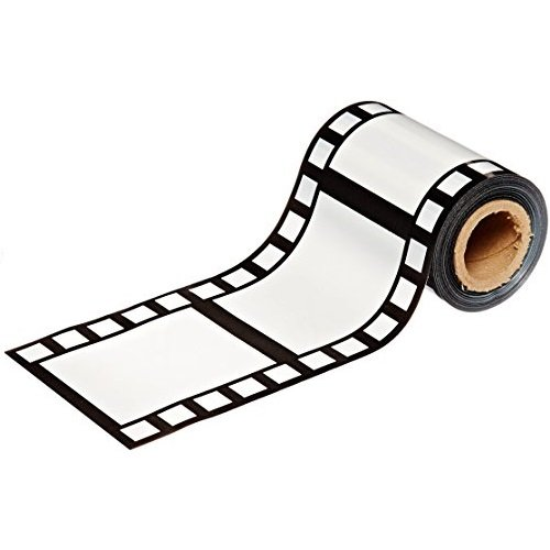PMU Filmstrip Poly Decorating Material Party Accessory 3-Inch by 50-Feet (3-Pack),Black/White -