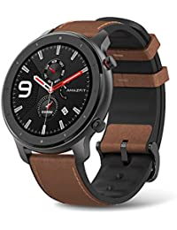 GTR Aluminium Alloy Smartwatch with GPS+GLONASS, All-Day Heart Rate Monitor, Daily Activity Tracker Rate and Activity Tracking, 24-Day Battery Life, 12- Sport Modes, 47mm