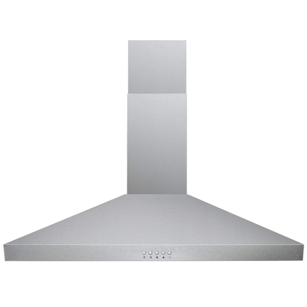 "DKB Wall Mounted Range Hoods Brushed Stainless Steel 400 CFM (Silver, 30"" Push Button)"