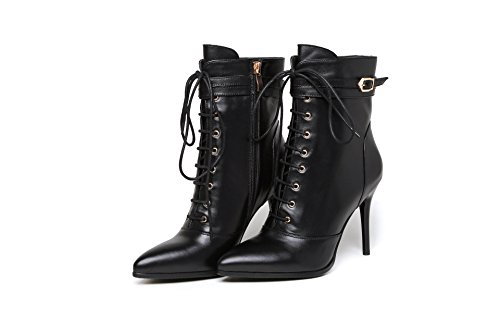 CXQ-Boots qin&X Women's Stiletto High Heels Pointed Toe Ankle Boots Shoes Black 4Zc9HaTTjF