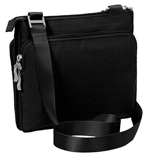 Everything Key Black Crossbody Bag Purse Accordion Wristlet Chain w amp; Baggallini dRHaYxwqd
