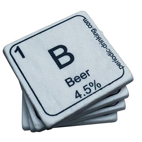 Periodic-Drinking Coasters - Set of 4 - Marble Coasters With Drinks as ()